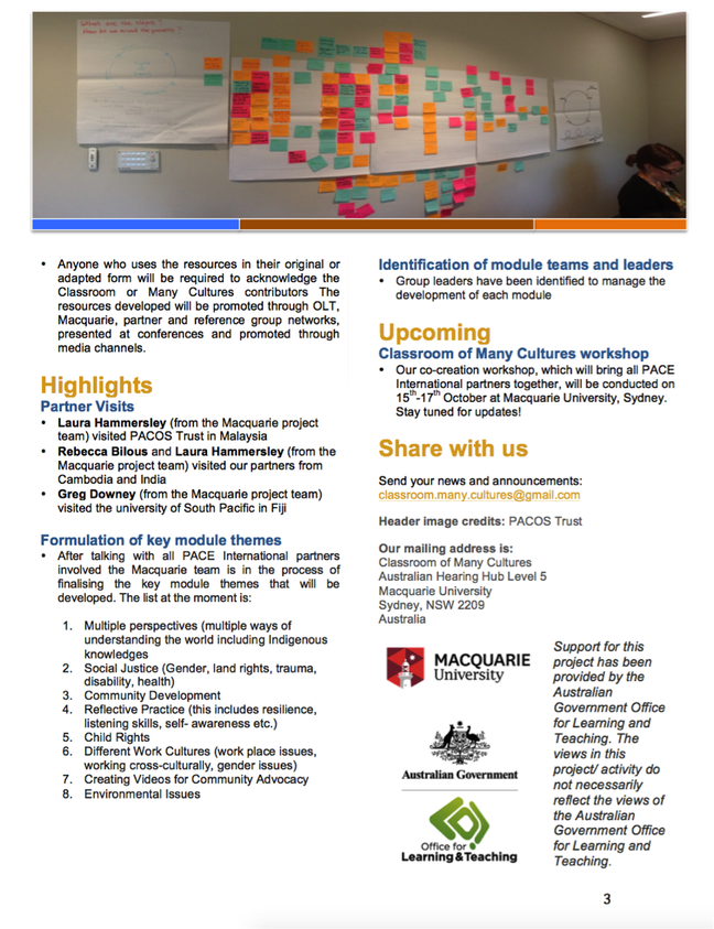 download classroom of many cultures newsletter 1